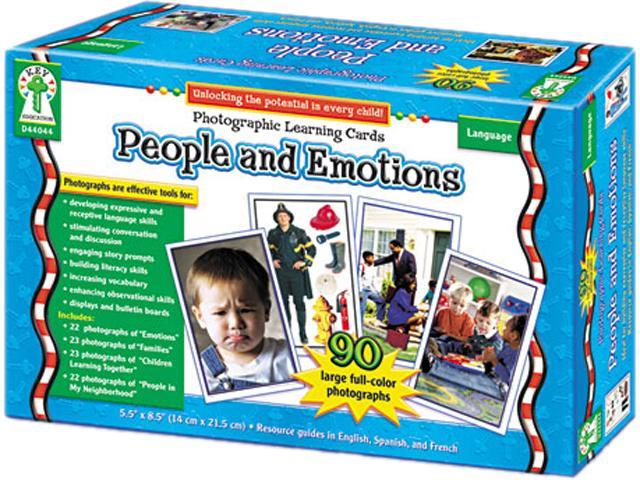 Photographic Learning Cards Boxed Set, People And Emotions, Grades K-1