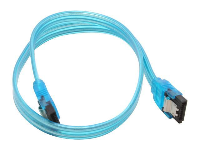 Link Depot 1.5 ft. UV Blue Latch Serial ATA Cable Model SATA-L0.5-UVB