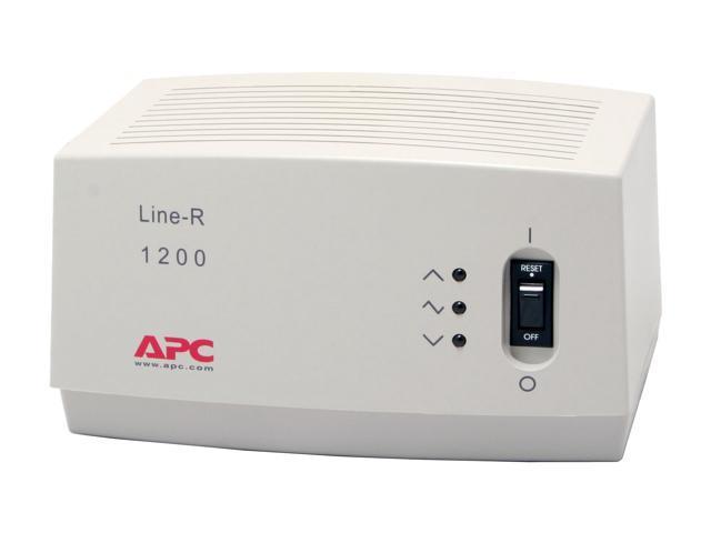 APC LE1200 6.5 ft. 4 Outlets 680 j 1200VA Automatic Voltage Regulator