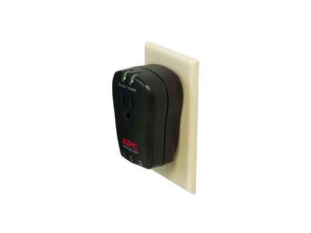 APC P1T Single Outlets 320 joule Travel Surge Protector with Phone Line Protection