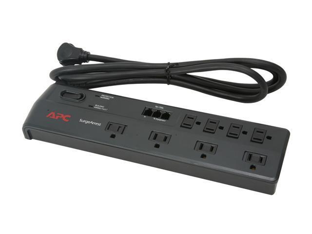 APC P8T3 6 ft. 8 Outlets 1750 Joules Home/Office Surge Protector
