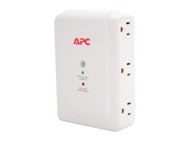 APC P6W Wall Mount 6 Outlets 1080 joule Surge Suppressor