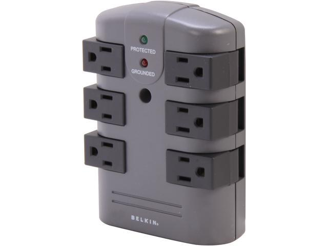 Belkin Bp106000 Wall Mount 6 Outlets 1080 Joules Pivot