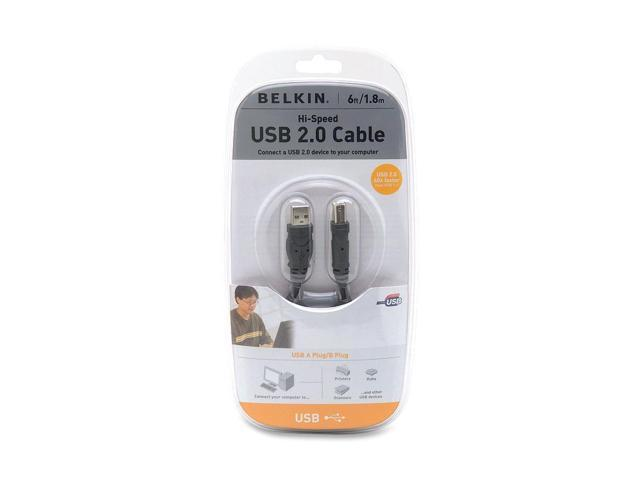 Belkin F3U133v06 6 ft. Gray Hi-Speed USB 2.0 Cable