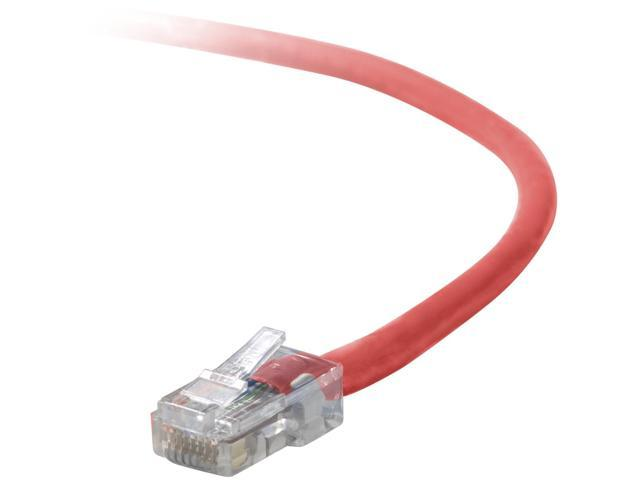 BELKIN A3L791-08-RED 8 ft. Network Cable