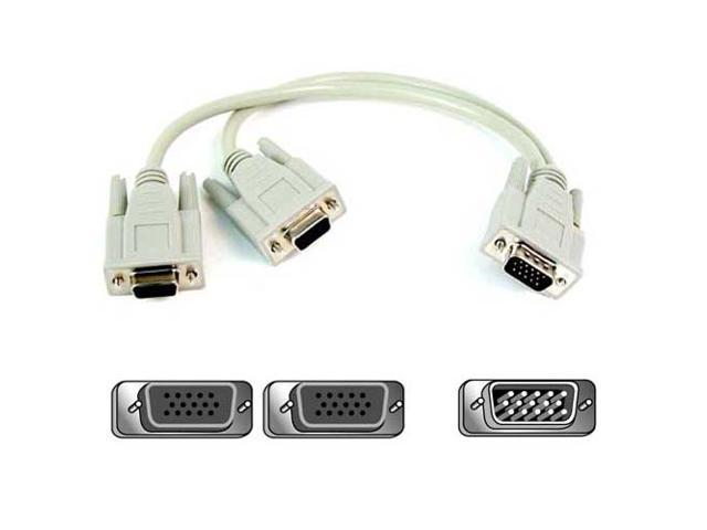 Belkin F3G006-01 1 ft. Pro Series 1 x HD-15 Male to 2 x HD-15 Female Cable