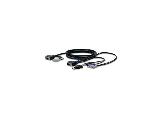 BELKIN 6 ft. SOHO KVM Replacement Cable Kit, VGA & PS/2, USB F1D9102-06