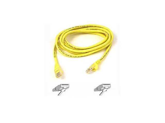 BELKIN A3L791-15-YLW-S 15 ft. Cat 5E Yellow Patch Cable CAT5e Snagless RJ-45M / RJ-45M