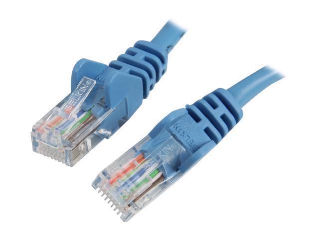 Belkin A3L791-03-BLU-S 3 ft. Cat 5E Blue Cat.5e Network Cable