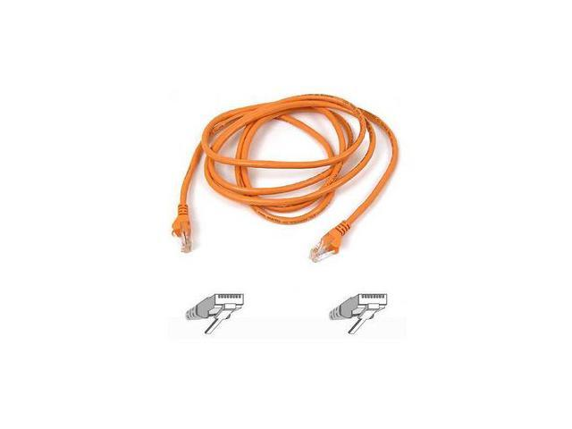 BELKIN A3L791-30-ORG-S 30 ft. Cat 5E Orange CAT 5e RJ45(M-M) Patch Cable  Orange Snagless