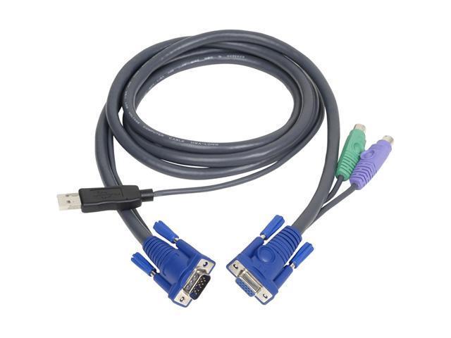 IOGEAR 6 ft. PS/2 to USB Intelligent KVM Cable G2L5502UP - OEM
