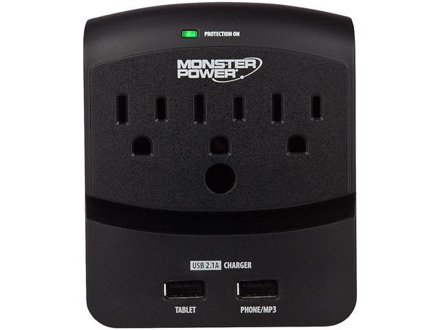 MONSTER 121822-00 (MP EXP 350 USB) 3 Outlets 540 Joules Core Power 350 USB Surge Suppressor