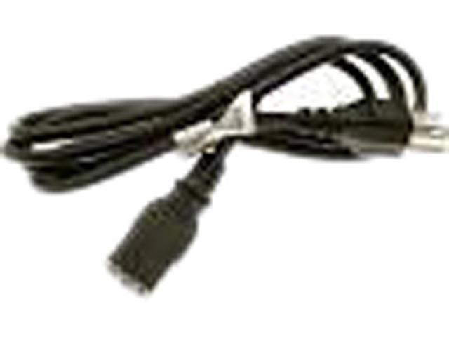 HP Model 142766-001 6.2 Feet AC Power Cord, 120V, C13 (F), Black, US