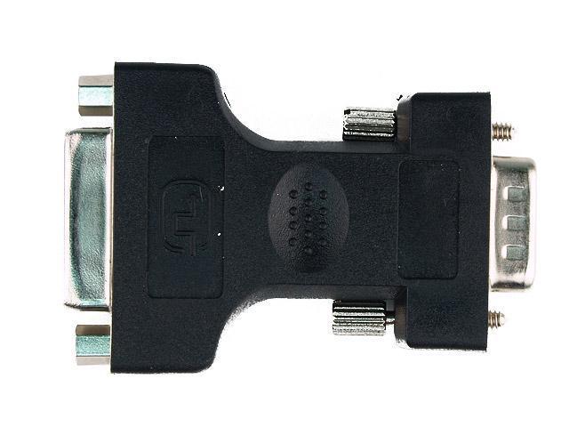 RCW-701 DVI-I (24+5) Female to VGA HD15 Male Adapter - Black