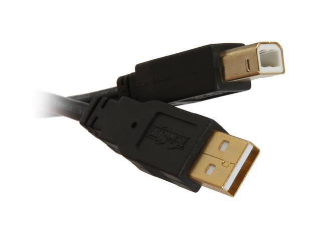 Tripp Lite U022-015 15 ft. Black USB 2.0 Gold A B Device Cable