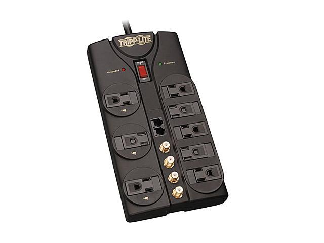Tripp Lite TLP810SAT 10ft. Cord 8 Outlets 3240 Joules Protect It! Surge Suppressor