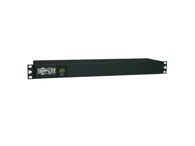 Tripp Lite Metered PDU, 1.92kW Single-Phase 120V (12 5-15/20R), L5-20P / 5-20P, 110 - 127V Input, 15 ft. Cord, 1U Rack-Mount (PDUMH20)