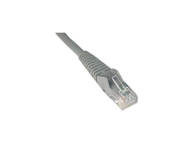 TRIPP LITE N001-005-GY 5 ft. Cat 5E Gray Snagless 350MHz Molded Patch Cable