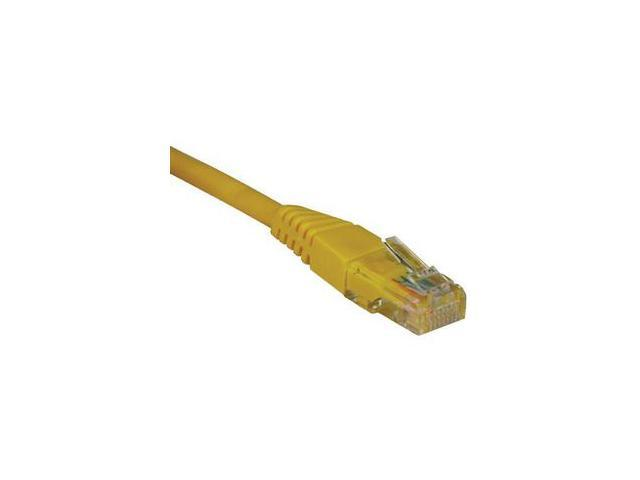 TRIPP LITE N002-005-YW 5 ft. Cat 5E Yellow Cat5e 350MHz Molded Patch Cable