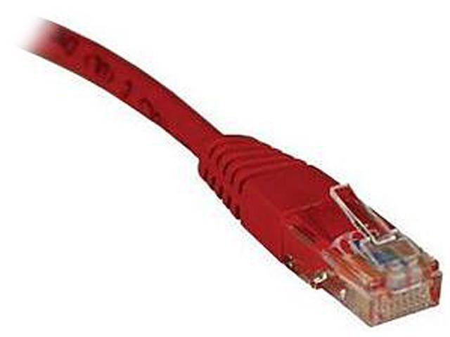 TRIPP LITE N002-007-RD 7 ft. Cat 5E Red Cat5e 350MHz Molded Patch Cable