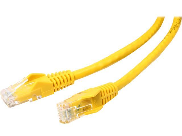 TRIPP LITE N201-010-YW 10 ft. Cat 6 Yellow Cat6 Gigabit Snagless Patch Cable