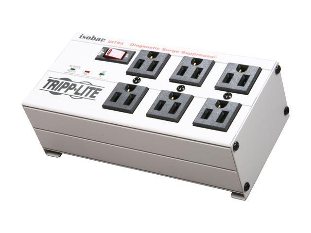 Tripp Lite ISOBAR6ULTRA 6 ft Cord 6 Outlets 3330 Joules Isobar Surge Suppressor