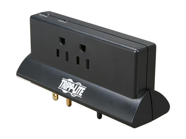 Tripp Lite TLP4BK 4 Outlets 670 Joules Direct Plug-in Protect It! Surge Suppressor