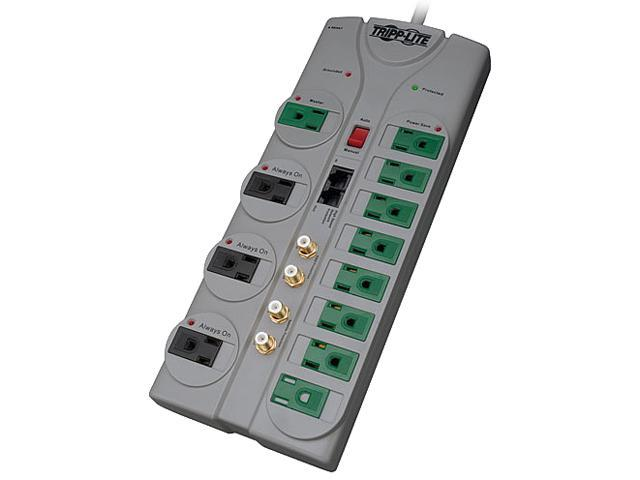 TRIPP LITE TLP1210SATG 10 ft. 12 Outlets 3600 Joules ECO-SURGE Home/Business Theater Surge Suppressor