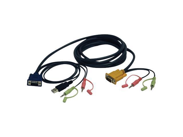 TRIPP LITE 10 ft. VGA/USB/Audio Combo Cable Kit for B006-VUA4-K-R KVM Switch
