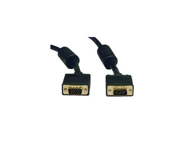 Tripp Lite P502-100 100 ft. SVGA/VGA Monitor Gold Cable with RGB Coax (HD15 M/M)