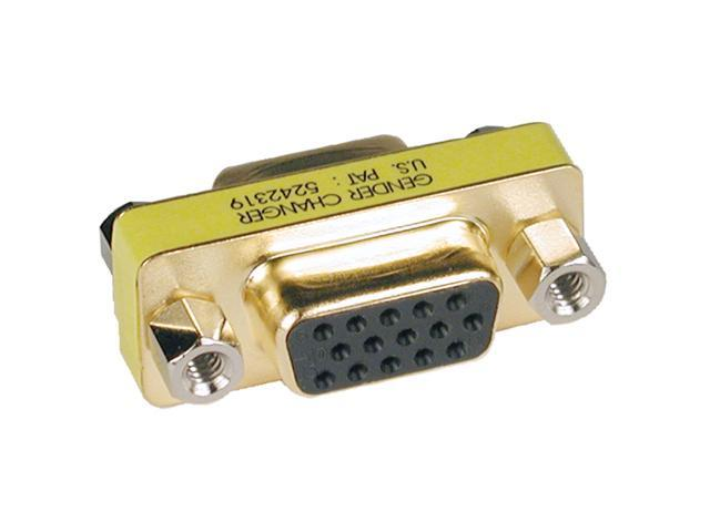 Tripp Lite P160-000 Compact VGA Gender Changer HD15F to HD15F, Gold Connectors