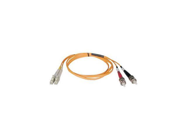 Tripp Lite N518-02M 6.56 ft. LC Male to ST Male Duplex MMF 50/125 Fiber Cable M-M