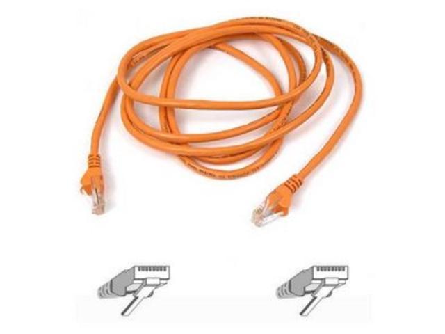 BELKIN A3L791-03-ORG-S 3 ft. Cat 5E Orange Cat5e Network Cable (Orange)