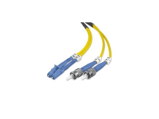 Belkin F2F802L0-03M 9.84ft 8.3/125 Singlemode ST/LC Duplex  Fiber Optic Cable M-M