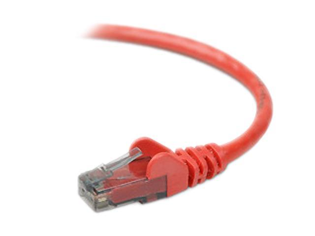 BELKIN A3L980-01-RED-S 1 ft. Cat 6 Red Snagless Networking Cable