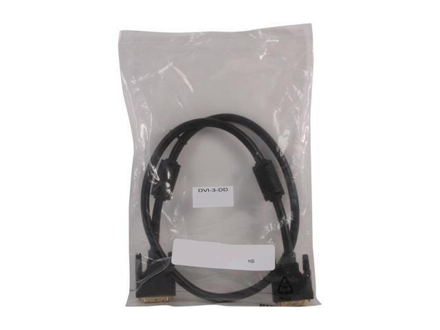 Link Depot Model DVI-3-DD 3 ft. DVI-D male to DVI-D male dual link Cable, Black - OEM