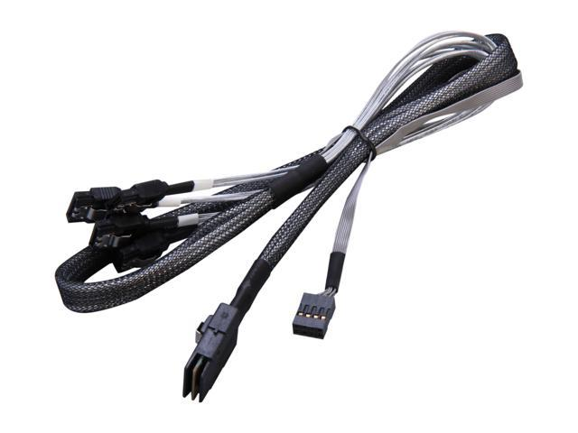 SIIG Model CB-S20011-S1 2.46 ft. (75cm) Internal mini-SAS SFF-8087 to 4 x SATA Fanout Cable