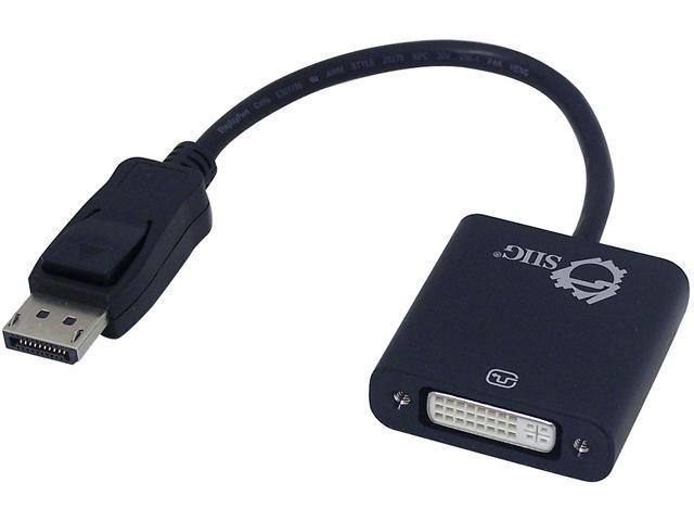 SIIG CB-DP0P11-S1 DisplayPort to DVI Adapter Converter