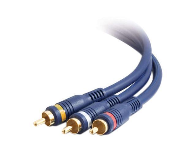 Cables To Go Model 29111 100 ft. Velocity RCA Audio/Video Combination Interconnect M-M