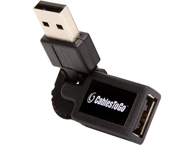 C2G 30501 FlexUSB USB 2.0 A Male to A Female Adapter - Black