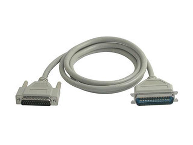 C2G 6ft IEEE-1284 DB25 Male to Centronics 36 Male Parallel Printer Cable Model 02300