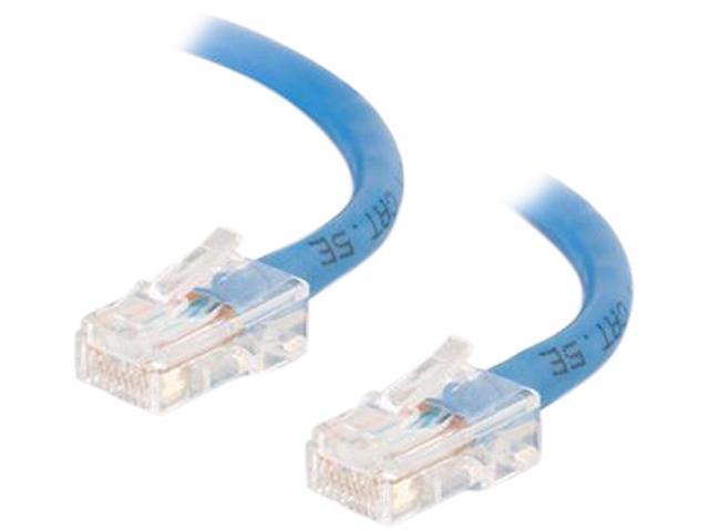 C2G 22679 5 ft. Cat 5E Blue Cat5E 350 MHz Assembled M-M Patch Cable - Blue