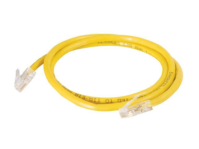 C2G 22694 10 ft. Cat 5E Yellow Cat5E 350MHz Assembled M-M Patch Cable - Yellow