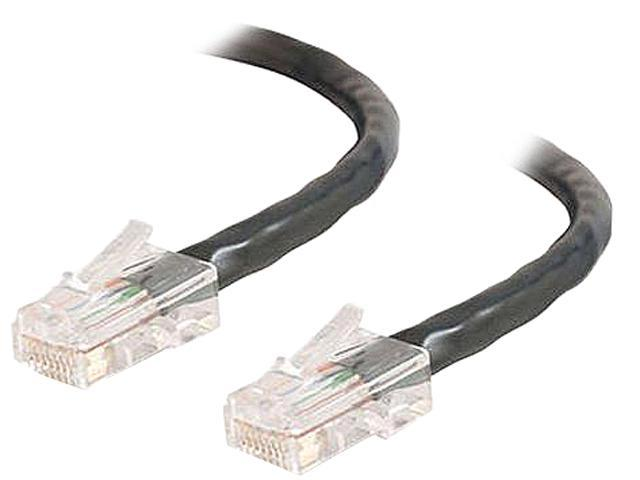 C2G 26374 1 ft. Cat 5E Black Cat5E 350MHz Assembled M-M Patch Cable - Black