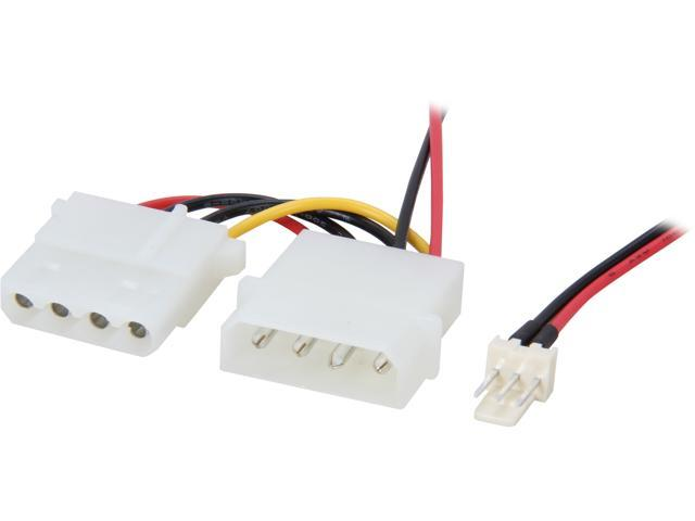 "C2G 27078 6"" 3-pin Fan to 4-pin Pass-Through Power Adapter Cable"