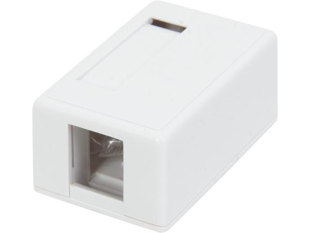 C2G 03831 1-Port Keystone Jack Surface Mount Box - White