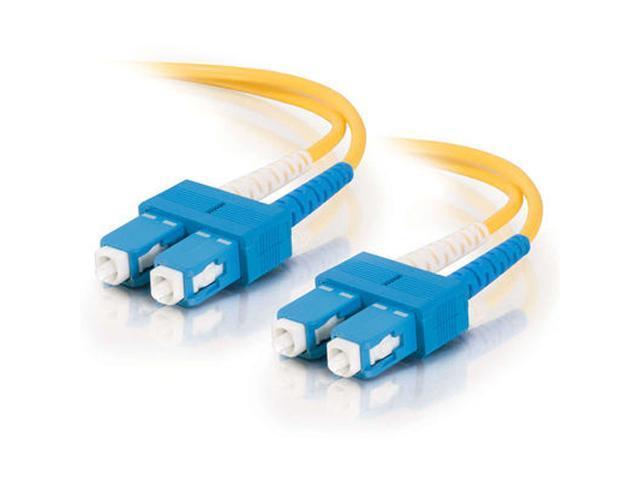 C2G 20455 2m SC/SC Duplex 9/125 Single Mode Fiber Patch Cable - Yellow