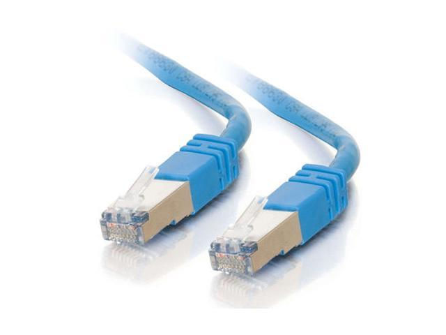 C2G 27266 25 ft. Cat 5E Blue Shielded Molded Patch Cable