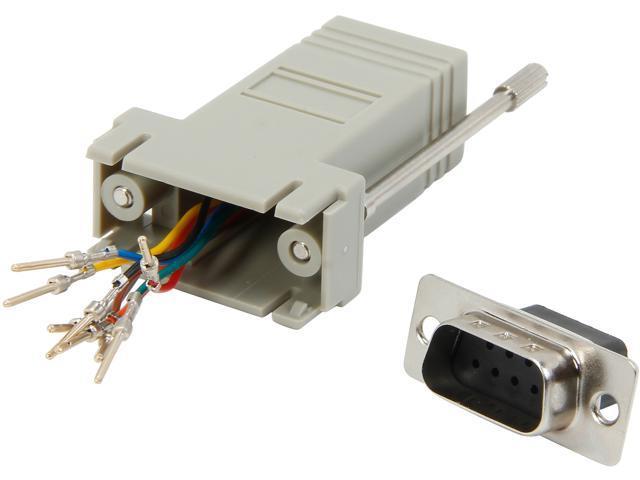 C2G 02945 RJ45 to DB9 Male Modular Adapter - Gray