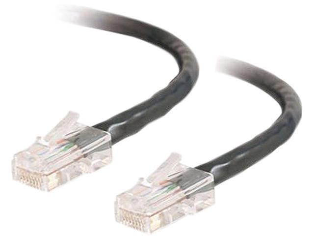 C2G 22677 3 ft. Cat 5E Black Assembled Patch Cable